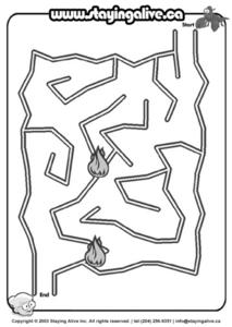 Staying Alive Maze Lesson Plan