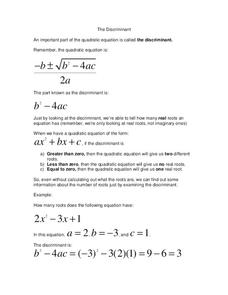 quadratic formula lesson plans worksheets 217 240. Black Bedroom Furniture Sets. Home Design Ideas