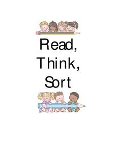 Read, Think, Sort Lesson Plan