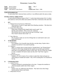 Lesson Plans Little House on the Prairie