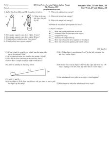 Inclined Plane Lesson Plans & Worksheets | Lesson Planet