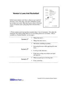 Newton's Laws and Rocketball Lesson Plan