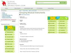 Grouping Musical Instruments Lesson Plan