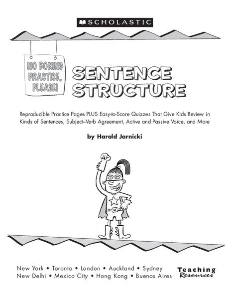 sentence structure worksheet for 3rd 4th grade lesson planet. Black Bedroom Furniture Sets. Home Design Ideas