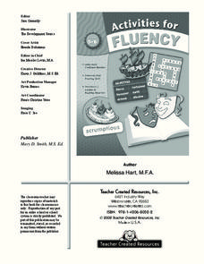 Activities for Fluency - the Coral Reef Worksheet