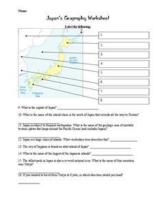 japan 39 s geography worksheet worksheet for 7th 12th grade lesson planet. Black Bedroom Furniture Sets. Home Design Ideas