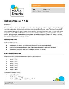 Kellogg Special K Ads Lesson Plan