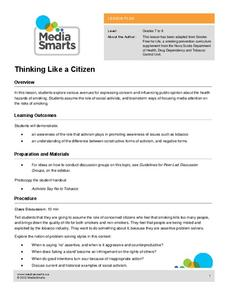 Thinking like a Citizen Lesson Plan
