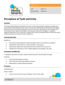 Perceptions of Youth and Crime Lesson Plan
