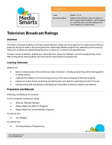 Television Broadcast Ratings Lesson Plan