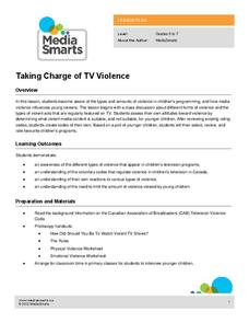 Taking Charge of TV Violence Lesson Plan