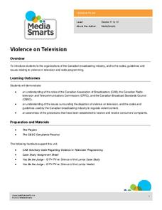 Violence on Television Lesson Plan