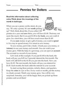 Growing Money Worksheet