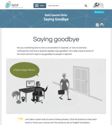 Saying Goodbye Interactive