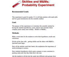 Skittles & M&Ms Probability Experiment Lesson Plan