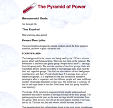 The Pyramid of Power Lesson Plan