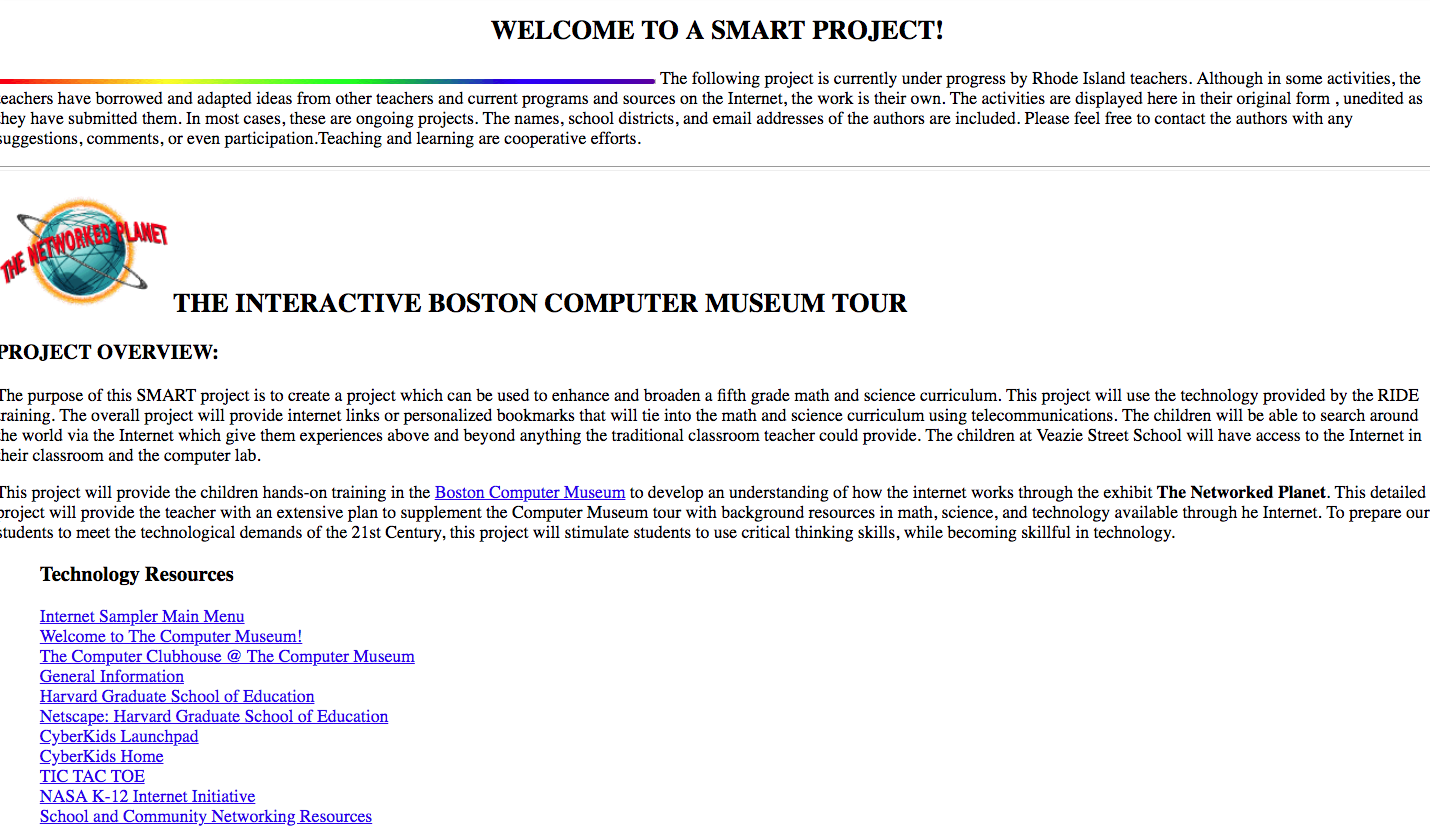 The Interactive Boston Computer Museum Tour Lesson Plan