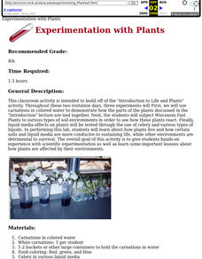 Experimentation With Plants Lesson Plan
