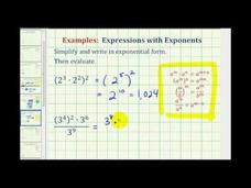 Simplify Exponential Expressions - Positive Exponents Only (Example 1) Video