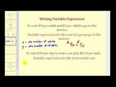 Introduction to Variables and Variable Expressions Video