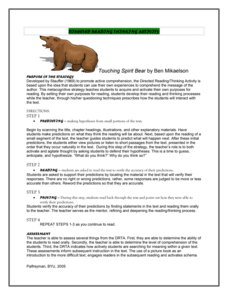 Touching Spirit Bear: Directed Reading Thinking Activity Activities & Project