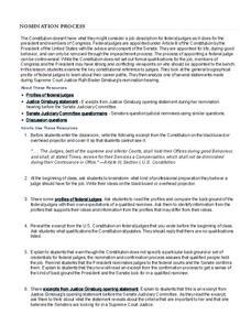 Supreme Court Nominations Lesson Plans & Worksheets