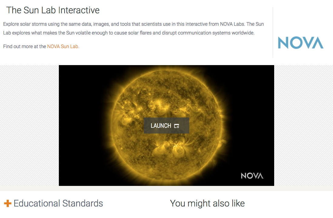 The Sun Lab Interactive Interactive