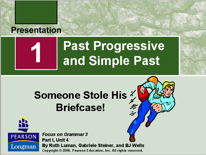 Past Progressive and Simple Past Presentation