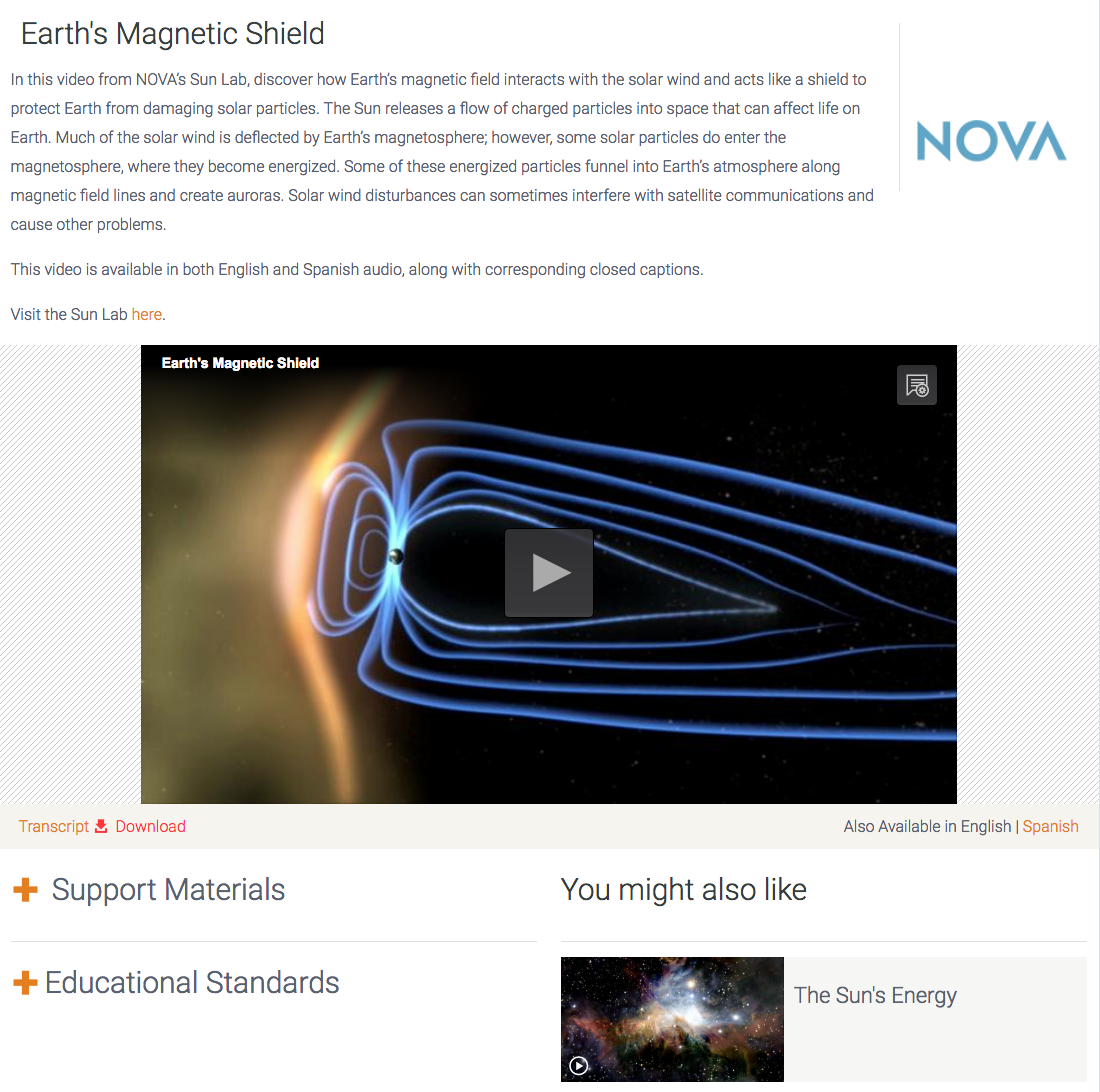 Earth's Magnetic Shield Video