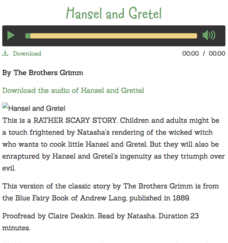 Hansel and Gretel Audio