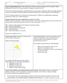Symmetry and Inverses Lesson Plan