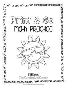 Fifth Grade Summer Math Booklet Worksheet