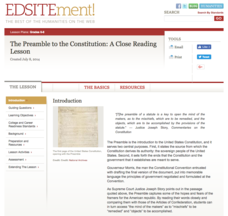 The Preamble to the Constitution: A Close Reading Lesson Lesson Plan