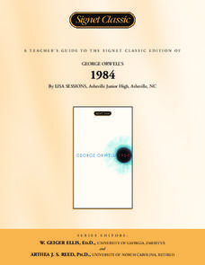 A Teacher's Guide to the Signet Classic Edition of George Orwell's 1984 Activities & Project