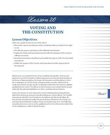 Voting and the Constitution Lesson Plan