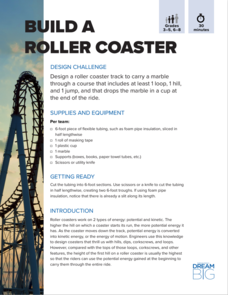 Build A Roller Coaster Activities Project For 3rd 8th Grade Lesson Planet