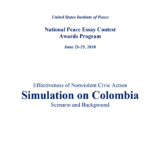 Effectiveness of Nonviolent Civic Action Simulation on Colombia Activities & Project