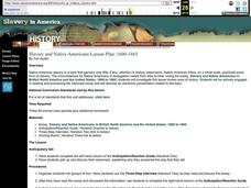 Slavery and Native Americans Lesson Plan: 1600-1865 Lesson Plan