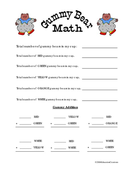 Math With Bears Lesson Plan Education Com Gummy Bear