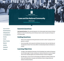 Laws and the National Community Lesson Plan