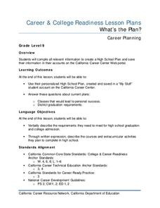 What's the Plan? Lesson Plan