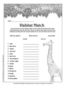 Habitat Match Lesson Plan
