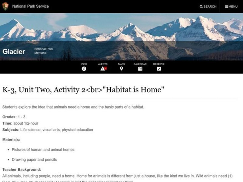 Habitat is Home Lesson Plan