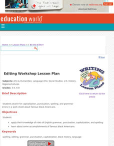 Be the Editor! Lesson Plan