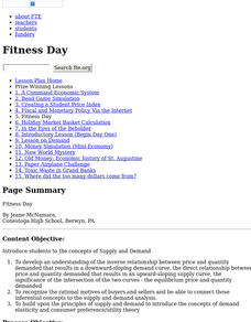 Fitness Day Lesson Plan