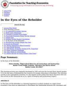 In the Eyes of the Beholder Lesson Plan