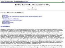 Poetry: A View of African American Life, Lesson Plan