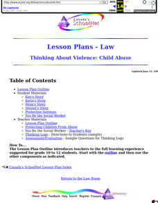 Thinking About Violence: Child Abuse Lesson Plan
