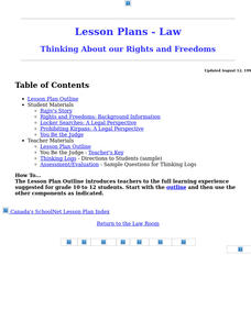 Thinking About our Rights and Freedoms Lesson Plan