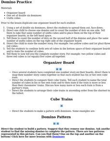 Unifix Cubes Lesson Plans & Worksheets   Lesson Planet